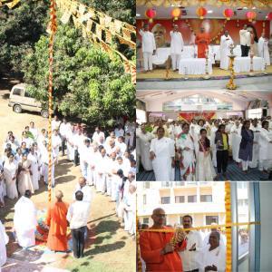 3. Flag hoisting, Making the Oath by all BK's and Inaugurated Dwadasha Linga's