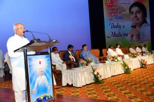 3. BK Karuna Bhai, Chairperson of Media Wing, Spoke on the Conferance.
