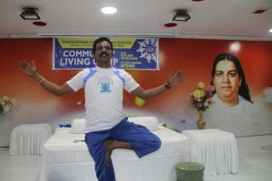 6. Early Morning Teaching Yogasana's to B.Ed Trainees